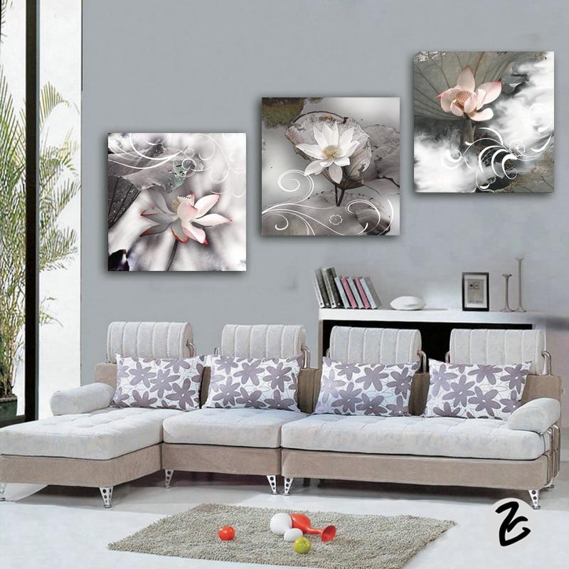 3 pçs flores do vintage pintura da lona moderna casa decoração sala de estar quarto impressão em tela decoração parede imagem