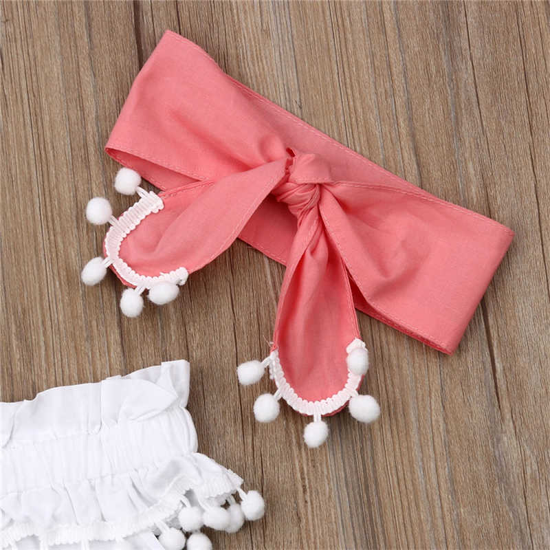 2019 ropa de verano para niñas recién nacidas vestido de princesa + pantalón corto con moño + conjunto de trajes de diadema para niñas de 0 a 24 meses