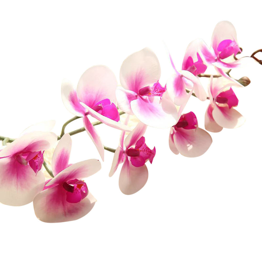 2017 High Quality Artificial Silk Fake Flowers Phalaenopsis Wedding