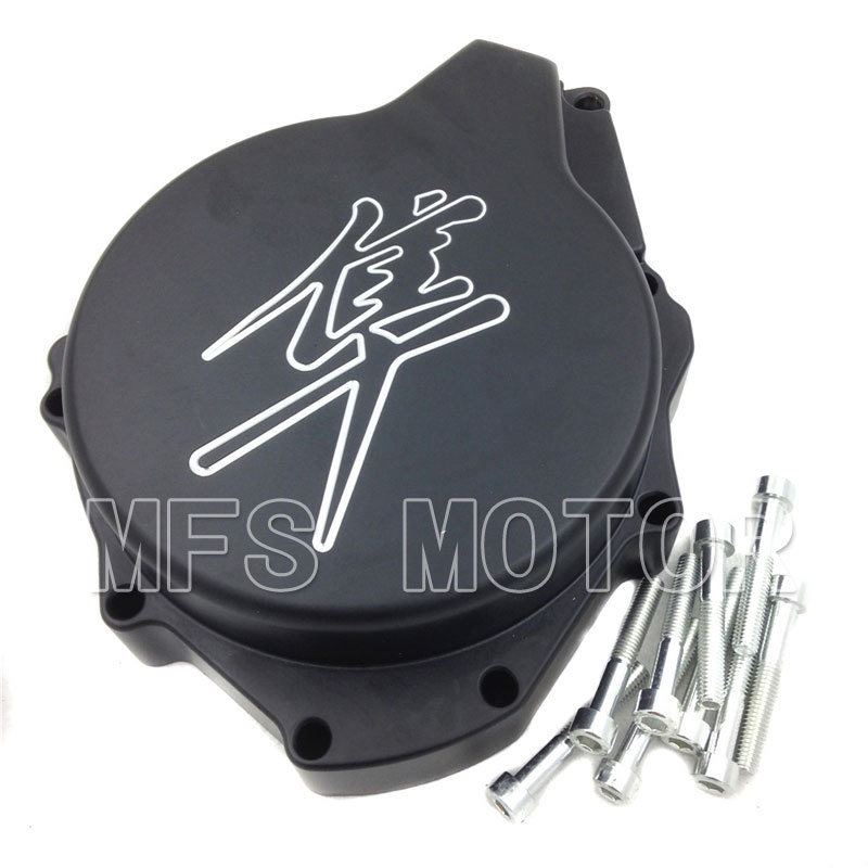ФОТО Motorcycle motor Left side Engine Stator cover For Suzuki Hayabusa GSXR1300 1998-2012 Black