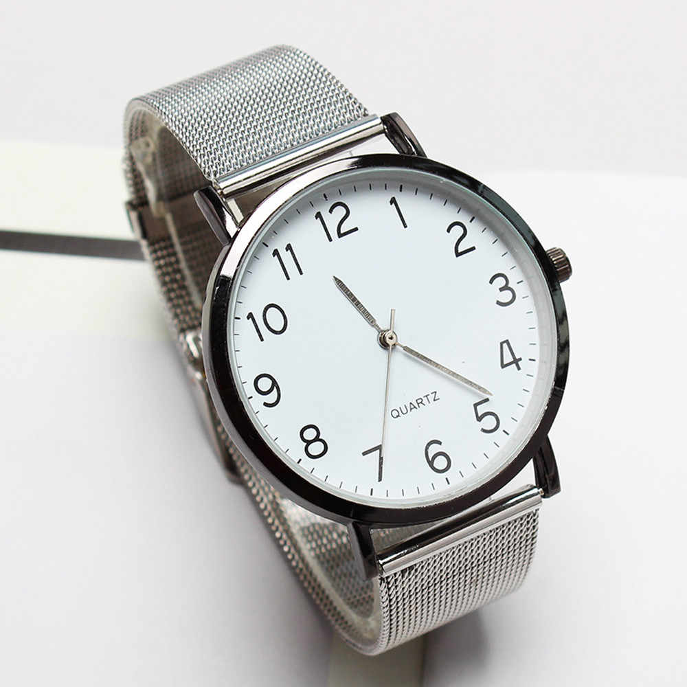Men's Watches Unisex Simple Business Quartz Wristwatch  Stainless Steel Fashion  reloj hombre Watch Men Clock relogio masculino