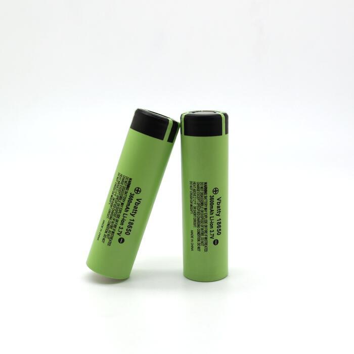 Vbatty18650 battery 3600mah 10A 3.7V li-ion rechargeable battery high quality with flat top PK NCR18650B PK NCR18650BD (1pc/lot)