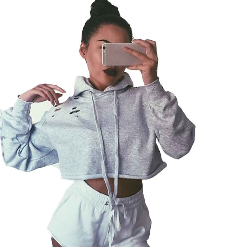 2017 Fashion Women Hoodie Sweatshirt Jumper Sweatshirt Crop Top Coat Pullover Tops harajuku blusas femininas