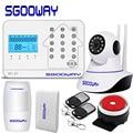 Sgooway Neue WIFI GSM PSTN Alarm System Für Home Alarm Mit IP Kamera Unterstützung iOS/Android APP control-in Alarm System Kits aus Sicherheit und Schutz bei