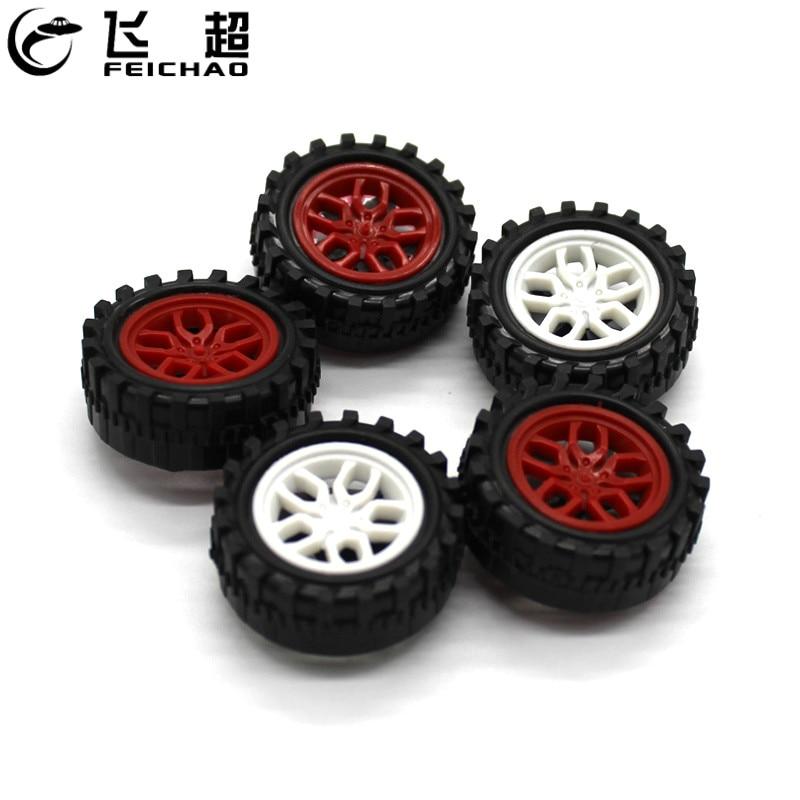 Роботизированный набор, 10 шт., 2WD/4WD, Колеса Диаметром 31 мм, 31*2 мм, мини-колеса, пластик для DIY, четырехколесный привод, модель автомобиля