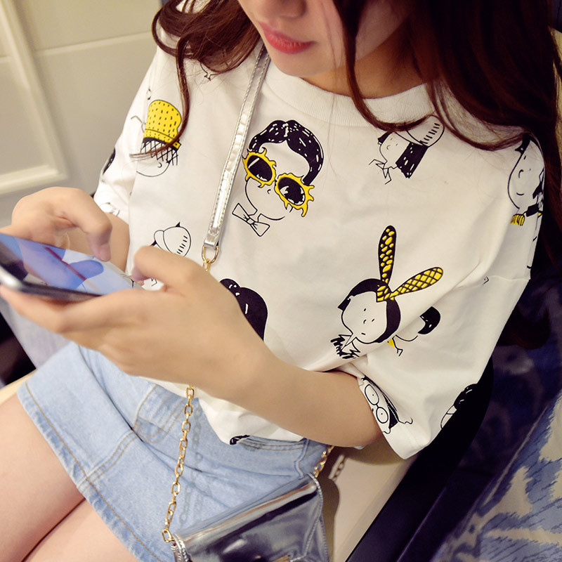 New Cute Women T-shirt Soft Sister Sailor Moon Milk Silk Kawaii White T Shirts For Female Harajuku Style Graphic