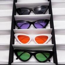 Женские солнцезащитные очки в треугольной оправе uv400