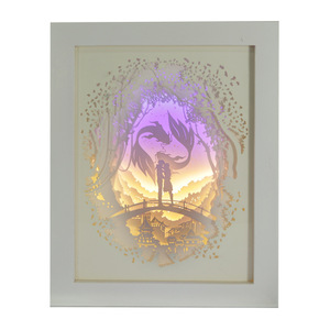 Image 3 - BRIGHTINWD Light Shadow Paper Lamp 3D Night Light Pisces Lover Bedside Decorative Table Lamp