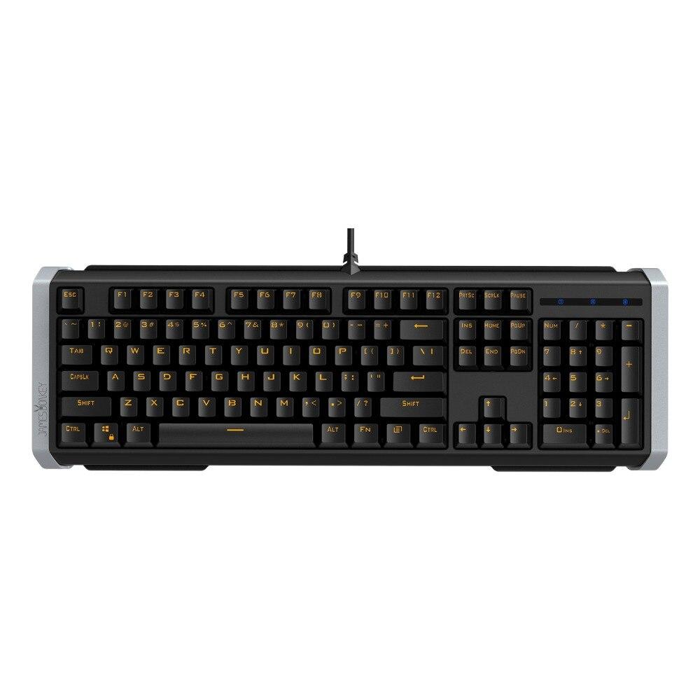 Ergonomique Anti-ghosting 104 Touches de Jeu Mécanique Clavier avec USB Filaire LED Rétro-Éclairage pour Mac PC De Bureau Gamer Noir ou Blanc