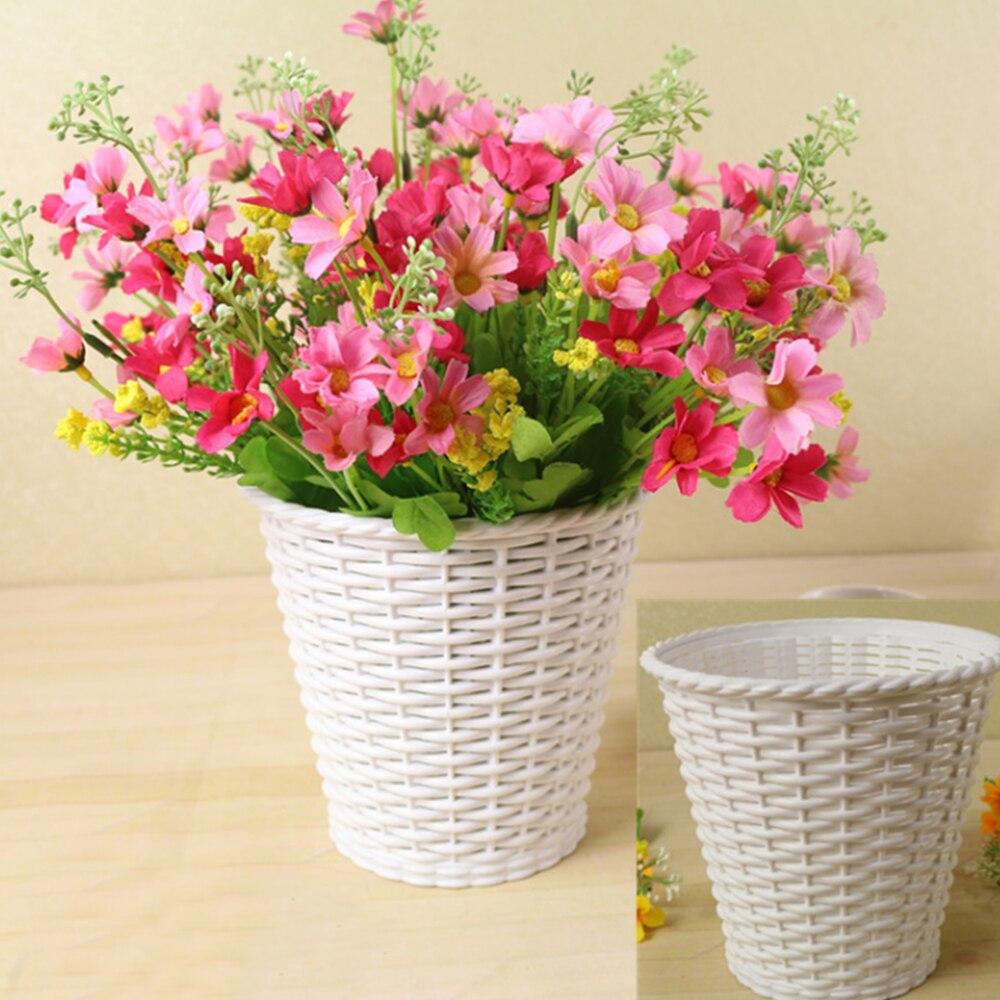 Aliexpress Buy Rattan Flower Pots Rattan Vase Decoration Fruit