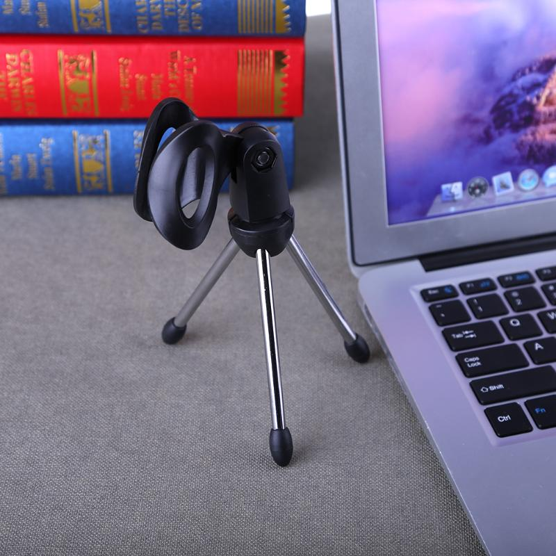 Mini Portable Table Tops Microphone Tripod Zinc Alloy Mic Stand Bracket Desktop Adjustable Microphones Tripods Holder in Mic Stand from Consumer Electronics