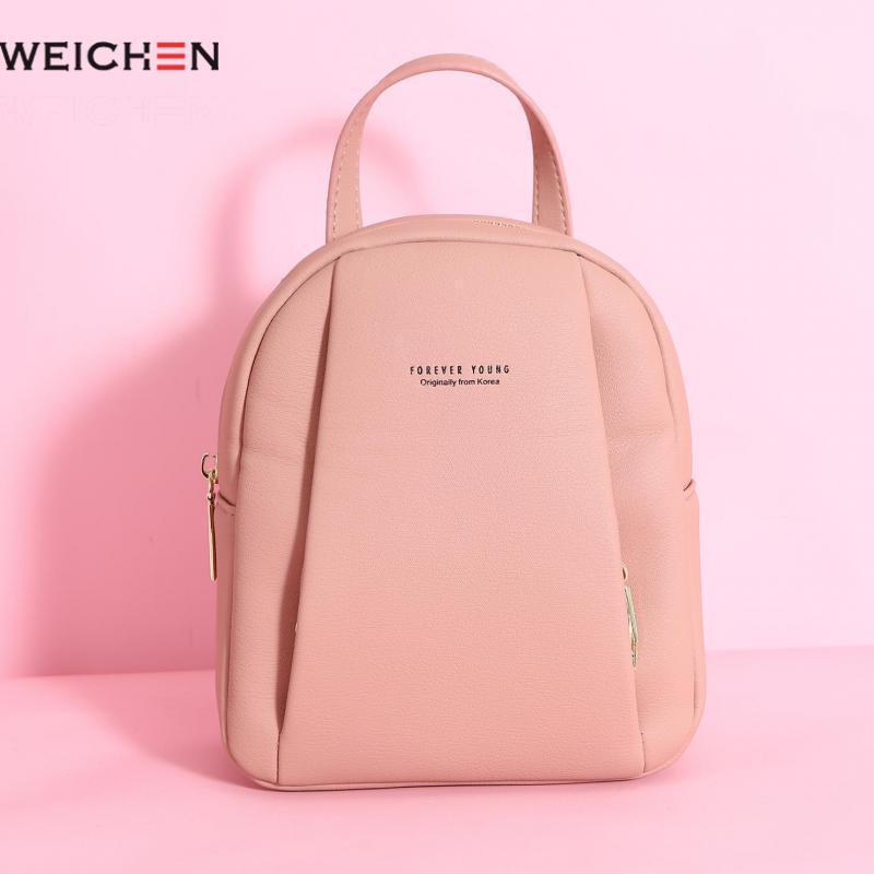 Weichen Women Small Backpack 2019 New Brand Designer Pu Leather Female Backpacks Young Girl Mini Backpack School Bags