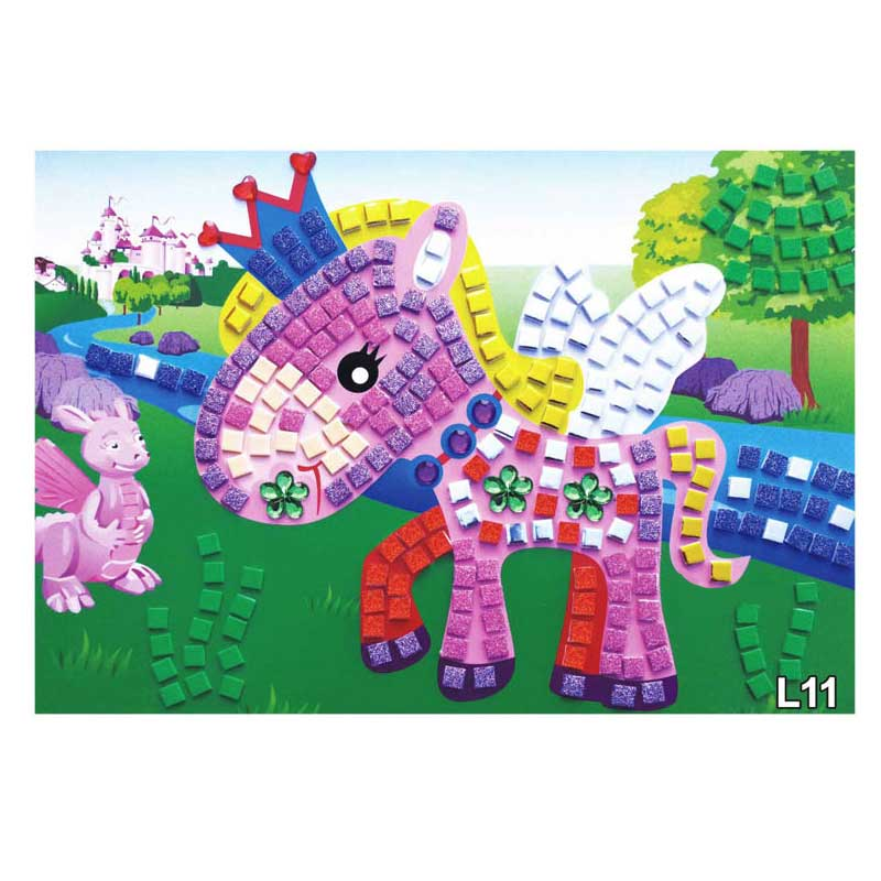 3Pcs Set 3D Children Puzzle DIY Foam Kids Mosaic Stickers Art EVA Cartoon Crystal Educational Toys 88 88 YJS Dropship in Puzzles from Toys Hobbies