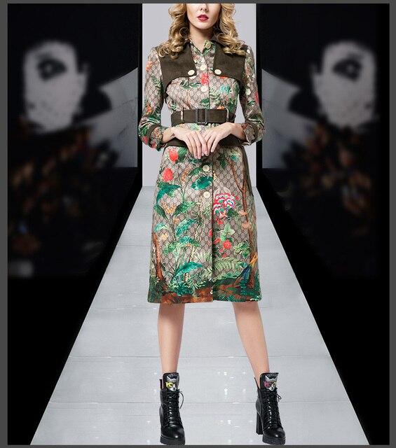 Novas mulheres da moda trench coat 2017 clothing festa estilo europeu designer de pista das mulheres