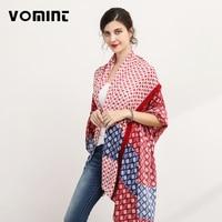 Vomint Brand Patchwork Elegant Summer Beach Scarf For Women Striped Pattern Design Lady Cool Scarf