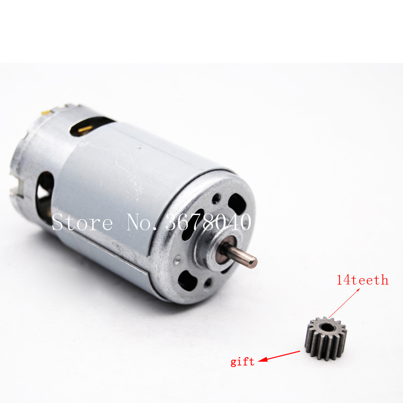 MOTOR RS550 20000RPM 10.8V/12V/14V/14.4v/16.8V/18V/21V/24V ( 14 TEETH GEAR) SUITABLE FOR BOSCH MAKITA HITACHI CORDLESS DRILL