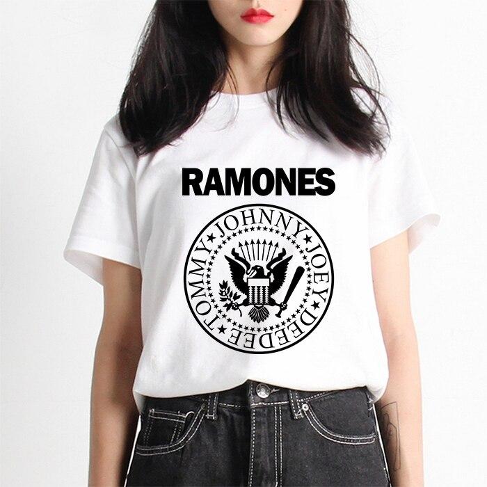 28725c91cc48 Продвижение Vogue Для женщин футболка Ramones nanruto Kawaii Arctic Monkeys  Футболка женская футболка Street Для женщин S Футболка harajuku корейский  ...