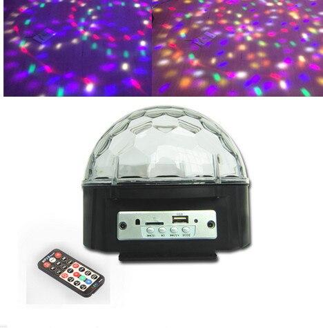 9 Couleurs MP3 Bluetooth Cristal Magic Ball Led Étape Lampe Disco Laser Light Party Lumières Laser De Contrôle Du Son Projecteur Musique KTV