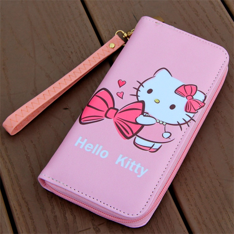 48d115318 Mcneely Brand Design Coin Purse hello kitty Leather Women Wallets Female  Card Holder Long Lady Clutch Wallet With Phone Pockets