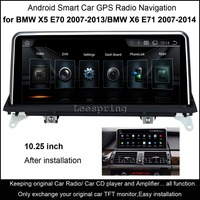 10 25 Touch Android Car Radio Stereo For BMW X5 2008 2015 GPS Navigation MP5 Bluetooth