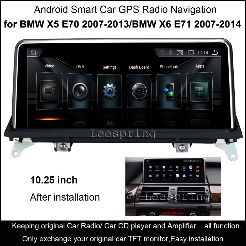 10 25 Touch Android Car Raido GPS for BMW X5 E70 2007 2013 BMW X5 E71