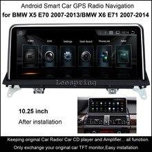 """10.25 """"Touch Android автомобиль Райдо GPS для BMW X5 E70 (2007-2013) /BMW X6 E71 (2007-2014) интеллект Автомобильный Мультимедийный Плеер"""