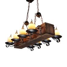 LOFT Nordic American Lampu Gantung 6/8 Kepala Retro Vintage Lampu E14 Industri Suspensi Luminer