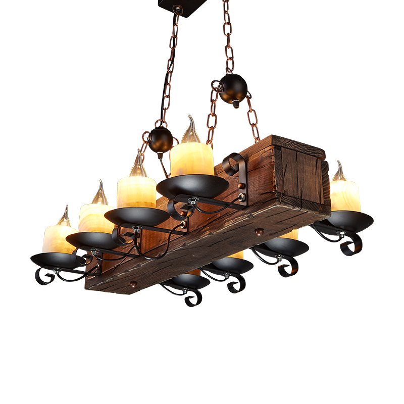 Loft Nordic American Chandelier 6/8 Heads Retro Vintage Lamp E14 Industrial Lighting Suspension Luminaire 6 heads e27 sockets nordic industrial edison chandelier vintage pendant lamp loft antique adjustable diy home lighting w o bulb