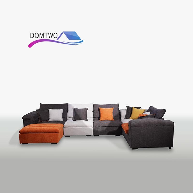 Cloth sofa sofa living room Wholesale Corner combination Furniture modern Simple corner sofa