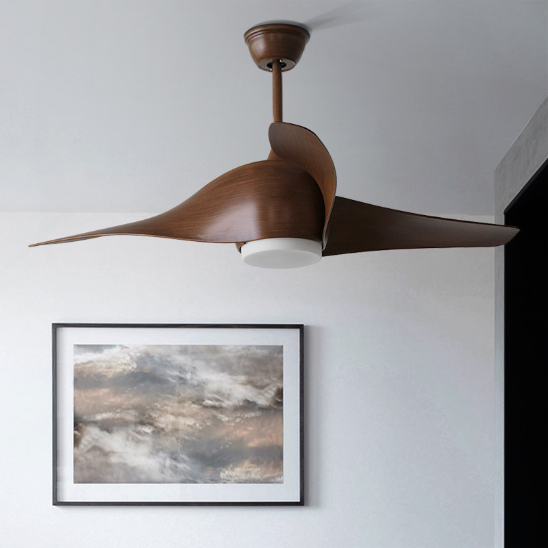 Trazos brown vintage ceiling fan with lights remote - Bedroom ceiling fans with remote control ...