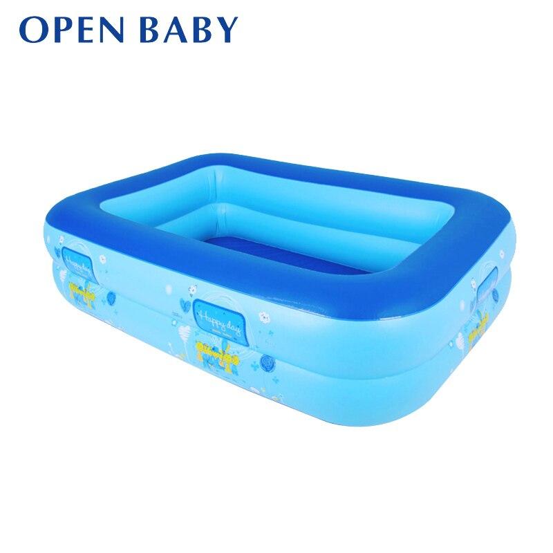 Inflatable Baby Swimming Pool Eco-friendly PVC Portable Children Bath Tub Kids Mini-playground 110X80X30cm