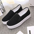 Canvas shoes riband chaussure femme short plush cheap shoes anti-odor women shoes slip on zapatos mujer height increasing shoes