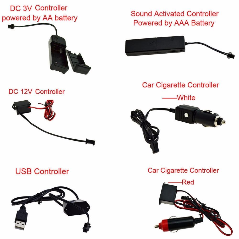Tiras de Led light + controlador + inversor Temperatura de Cor(k) : 3v Sound Activated Controler