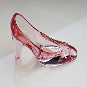 Image 4 - Crystal shoes glass slipper birthday gift home decor Cinderella High heeled shoes Wedding shoes figurines miniatures ornament