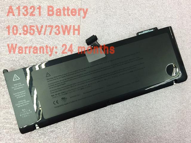 """10.95V-73WH Batería A1321 Laptop Para Macbook Pro 15 """"A1286 2009 2010 Años"""