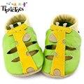 Cuero suave de Los Bebés Zapatos Infantiles Niñas Zapatillas 0-6 6-12 12-18 18-24 nuevo Estilo Primeros Caminante Resbalón-Prueba de Niños Zapatos de Cuero