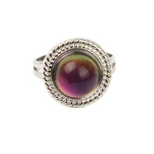 Fine Jewelry Sun Mood Temperature Change Color Mood Rings for Women & Men