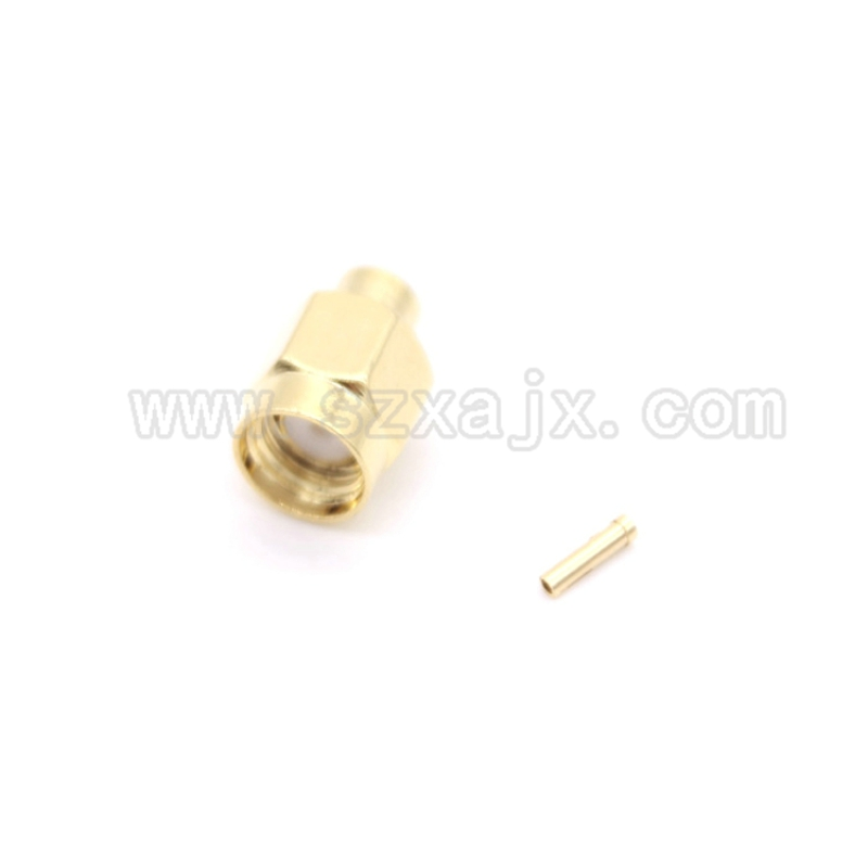 JX 10PCS RF connector RP-SMA male soldering for RG402 0.141 Semi-rigid Coaxial Cable RP-SMA-J-B3 Free shipping sale 10cm sma male to sma female rg141 extension cable made with semi rigid cable high quality jackplug wire connector
