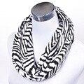 Navio ladies ' malha cachecol zebra impressão lenço para mulheres calorosamente outono inverno cachecol para homens presente lenço laço