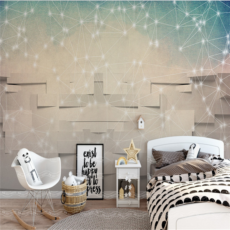 custom 3d photo mural wallpaper modern art non-woven wallpaper 3d TV minimalism simple abstract line geometry background wall popular large mural personality abstract modern art wallpaper sofa background ship nostalgia non woven wallpaper bedroom
