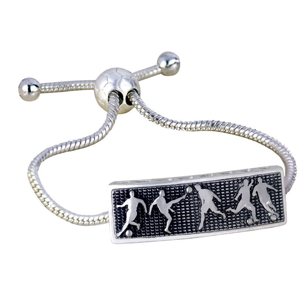 Football Fans 3D Bracelet Soccer Fan Accessories Silicone Bracelet Cheerleading Supplies Golden Silver Gifts Dropshipping