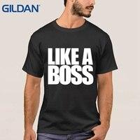 A + Like A Boss T Áo Sơ Mi Nhân Vật S ~ 3xl Tee Áo Sơ Mi Áo Sơ Mi Cotton Nam Trang Bị T Shirts Mens Đen