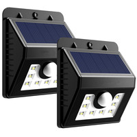 LumiParty LED Solar Lights Motion Sensor Wall Light Wireless Security Waterproof Outdoor Light With Motion Activated