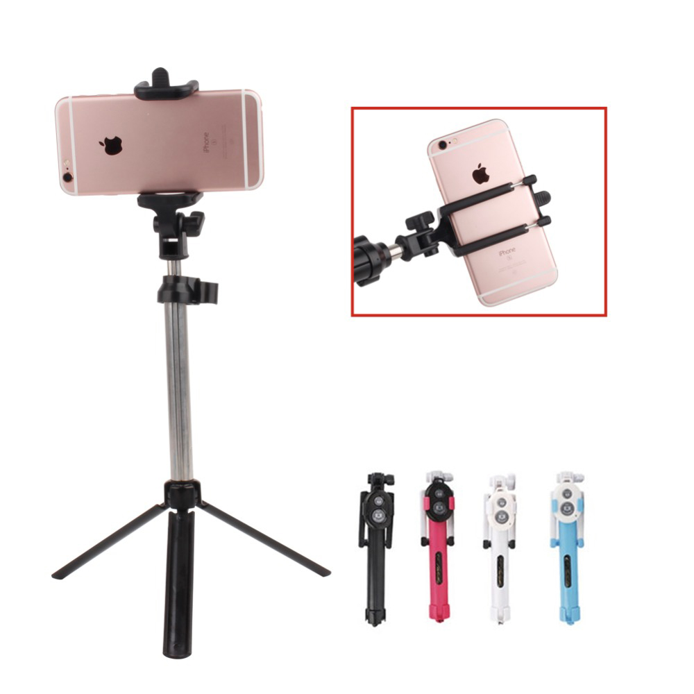universal wireless bluetooth handheld selfie stick monopod extendable remote shutter tripod. Black Bedroom Furniture Sets. Home Design Ideas