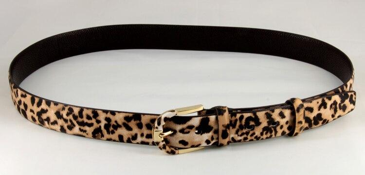 Leather Luxury women Leopard Buckle Belt