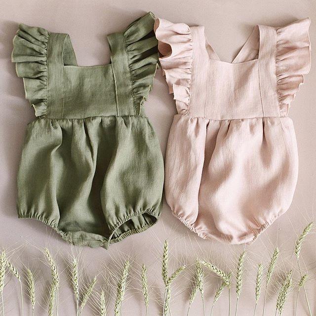 Owligbaby Retail Baby Linen   Rompers   Baby Girls Jumpsuit 59BT919 Ready Stock
