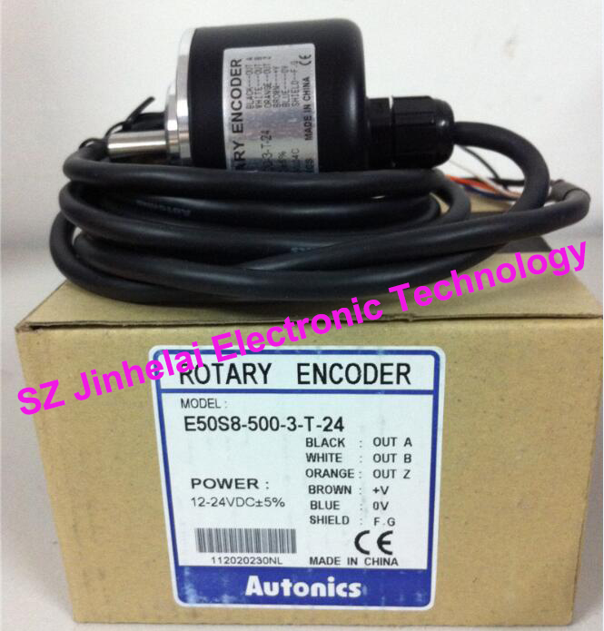 все цены на  AUTONICS E50S8-500-3-T-24 New and original   Incremental rotary encoder  онлайн
