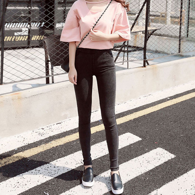 BIVIGAOS Fashion Women Casual Slim Stretch Denim Jeans Leggings Jeggings Pencil Pants Thin Skinny Leggings Jeans Womens Clothing