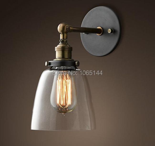 Loft Vintage Nostalgic Industry Re Gl Copper Edison Wall