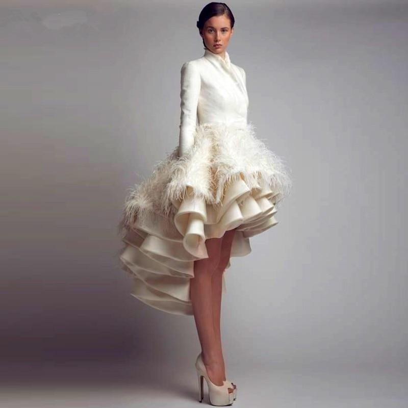 30b881a84d80b Tiers Organza Dubai Saudi Arabia Wedding Dresses 2015 Short Front ...